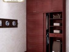索菲亚衣柜-简约马赛大百叶整体衣柜