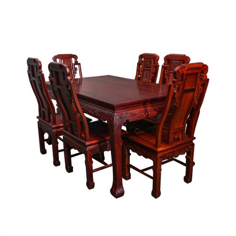 海强大红酸枝餐桌9件套  怎么摆放里面可是有大学问