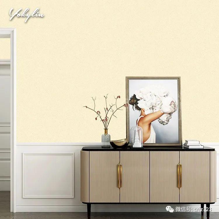 玉麒麟墙布黄色系 轻松打造更舒适的窗帘店效果图生活!